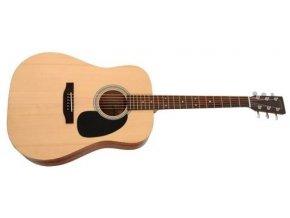 SIGMA DM-ST MF, akustická kytara dreadnought VÝBĚR, masiv, sitka, maghagon, mat, nultý pražec 48 mm