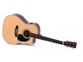 SIGMA JMC-1STE, elektro-akustická kytara VÝBĚR, polomasiv, sitka, Fishman Isys+