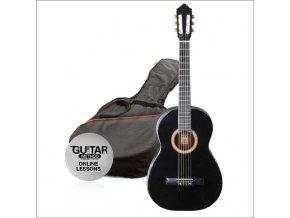 ASHTON SPCG 12 BK klasická kytara 1/2, Paket, černá