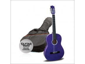 ASHTON SPCG 12 TP klasická kytara 1/2, Paket, fialová