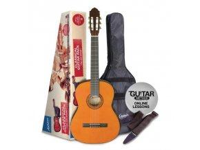 ASHTON SPCG 12 AM klasická kytara 1/2, Paket, natural