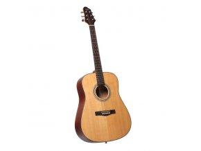 CARLOS AGS-50 akustická kytara Dreadnought - horní deska smrk masiv/zadní deska a luby mahagon/hmatník palisandr