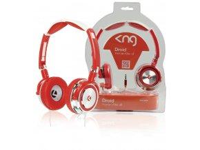 KNG Droid sluchátka, červená