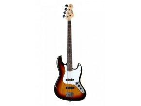 ABX JB-280 SB/WBR elektrická baskytara, jazzbass, sunburst