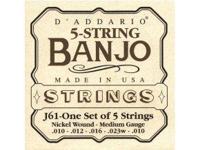 D'ADDARIO J61 struny na 5-str. banjo, nikl 10-23w-10