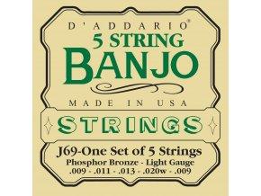 D'ADDARIO J69 struny na 5-str. banjo, PhBr 9-20w-9