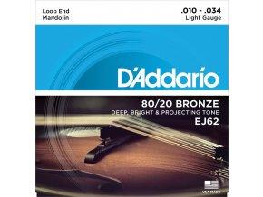 D'ADDARIO EJ62 struny na mandolínu, 10-34