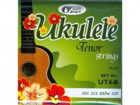 GORSTRINGS UT4-B černé struny na ukulele Tenor Black