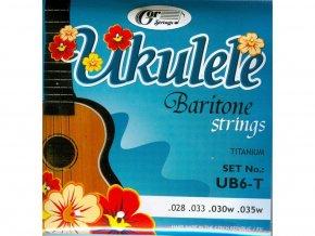 GORSTRINGS UB6-T struny ukulele-Baritone/Titanium