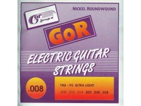"""GORSTRINGS 1N6-93 A  030"""" jednotlivá struna na elektrickou kytaru"""