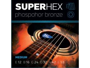SUPERHEX PB 12/53 struny na westernovou kytaru