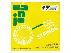 GORSTRINGS 19NI-06 9/20 struny banjo 5 strunné