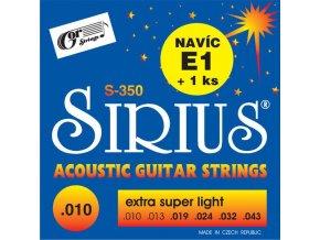 GORSTRINGS SIRIUS S-350 struny kytara .010