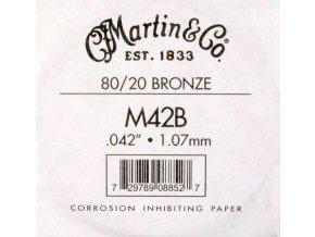 MARTIN M42B jednotlivá struna na kytaru E6 .042