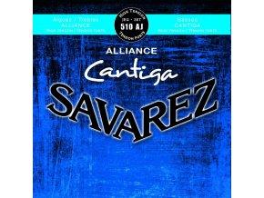 SAVAREZ 510AJ ALLIANCE CANTIGA BLEU nylonové struny na kytaru - výšky Alliance KF/basy Cantiga - High Tension