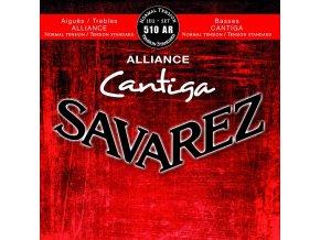 SAVAREZ 510AR ALLIANCE CANTIGA ROUGE nylonové struny na kytaru - výšky Alliance KF/basy Cantiga - Normal Tension