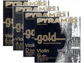 PYRAMID Gold, struny na housle, nikl