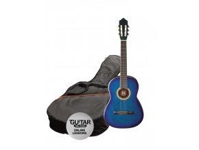 ASHTON SPCG 14 TBB klasická kytara 1/4, Paket, blueburst