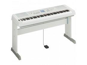 YAMAHA DGX 650 WH digitální piáno, bílá se stojanem, bez pedálnice
