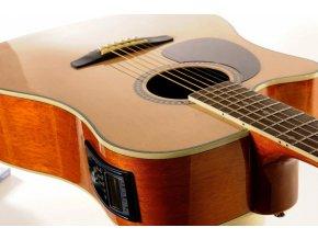 ASHTON D25CEQ L NTM elektroakustická kytara, levoruká, NAT, Dreadnought, výběr