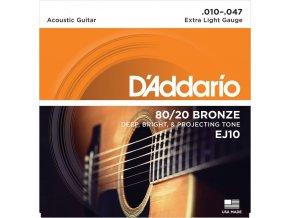 D'ADDARIO EJ 10 struny na akustickou kytaru 10-47