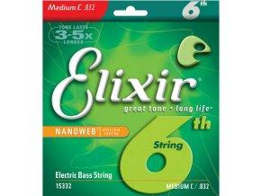 ELIXIR NANOWEB C Medium C 032  struna C na baskytaru