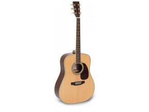 SIGMA DM-4, akustická kytara dreadnought VÝBĚR, masiv, sitka, maghagon, lesk, nultý pražec 43 mm