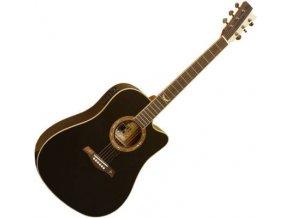 GILMOUR Robust EQ BK/NT westernová kytara polomasiv cedr (CEQ)
