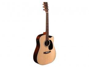 SIGMA DRC-1HSTE, elektro-akustická kytara VÝBĚR, masiv, sitka, indický palisandr, nultý pražec 44,5 mm
