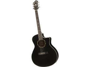 "HAGSTROM Siljan II Grand Auditorium CE - black gloss, elektroakustická kytara ""VÝBĚR"""