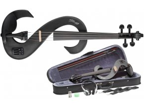 STAGG EVN 4/4 MBK, elektrické housle, černá metalíza