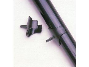 AULOS TS-3D palcová opěrka pro sopránovou flétnu, hnědá