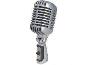 SHURE 55SH-II zpěvový dynamický mikrofon Retro design, kardioida, stříbrný