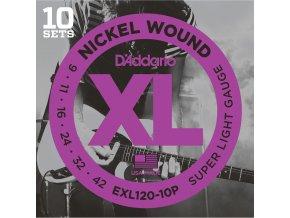 D'ADDARIO EXL120-10P ECO struny na el. kytaru, 09-42 nebalené