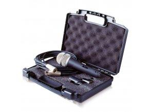 ASHTON DM 100C mikrofon dynamický s vypínačem + kabel XLR/XLR