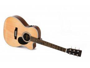 SIGMA OMMRC-1STE, elektroakustická kytara VÝBĚR, masiv, sitka, cutaway, hmatník 44,5 mm