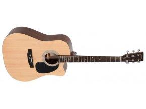 SIGMA DMC-ST WF, elektroakustická kytara dreadnought, cutaway, VÝBĚR, masiv, sitka, maghagon, mat, nultý pražec 44,5 mm