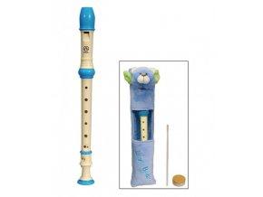 ANGEL ASRB-101-BU sopránová flétna, barokní systém, modrá