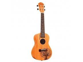 EBE YAEL/MUSIC ENGRAVED MAHAGON/SPRUCE 23 ukulele koncert gravírované
