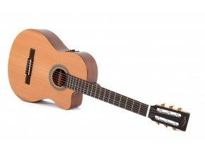 SIGMA CMC-STE, elektroakustická klasická kytara VÝBĚR, masiv, cedr, cutaway