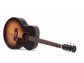 SIGMA GJM-SGE, elektroakustická kytara, super jumbo, sunburst satin, 43mm, masiv sitka,  výběr