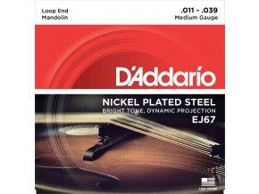 D'ADDARIO EJ67 struny na mandolínu, nickel plated steel, 11-39
