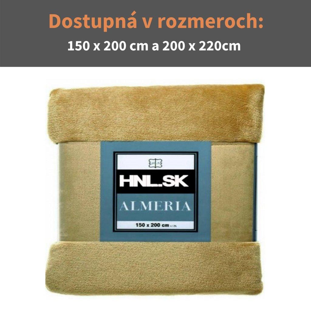 Deka Almeria 150x200cm olivová