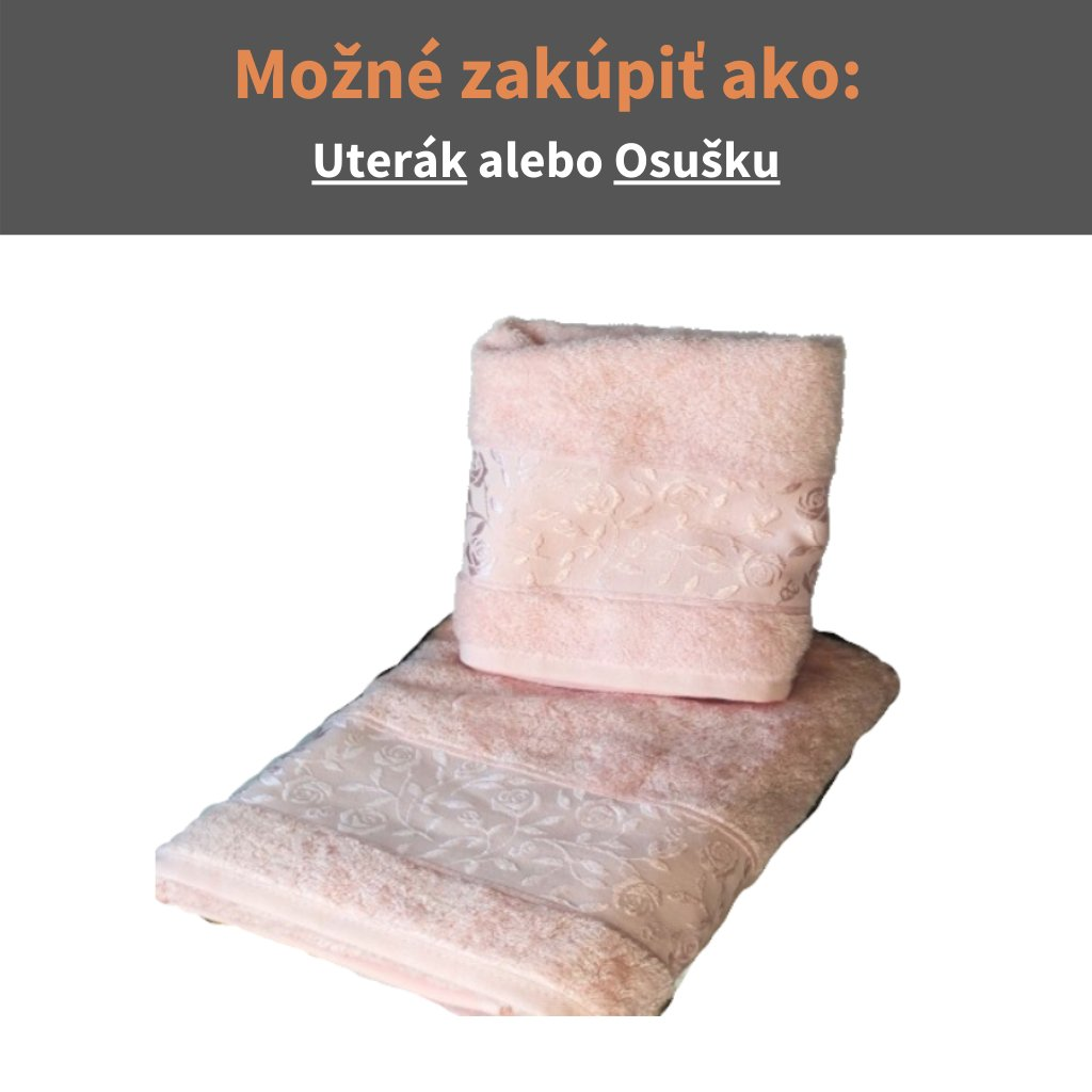 Bambusový uterák - osuška Staroružová