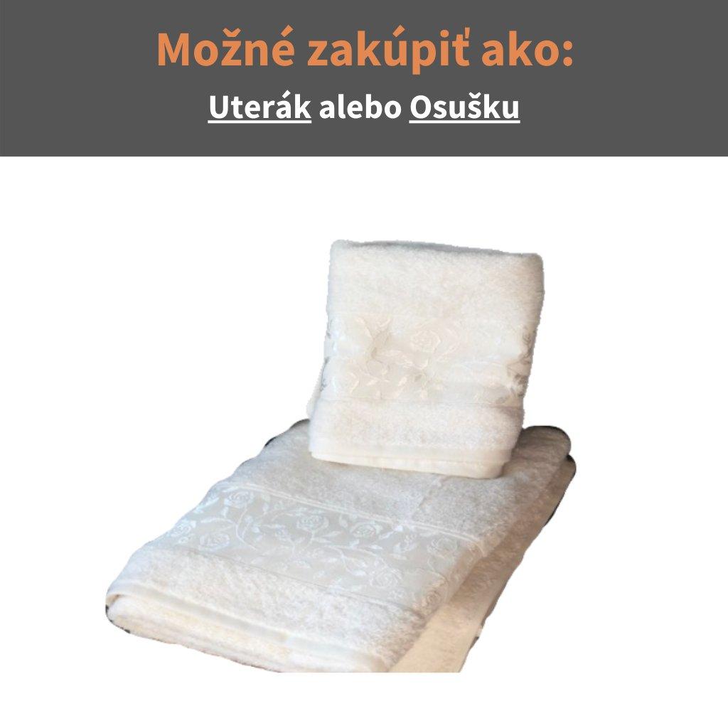 Bambusový uterák - osuška Biela