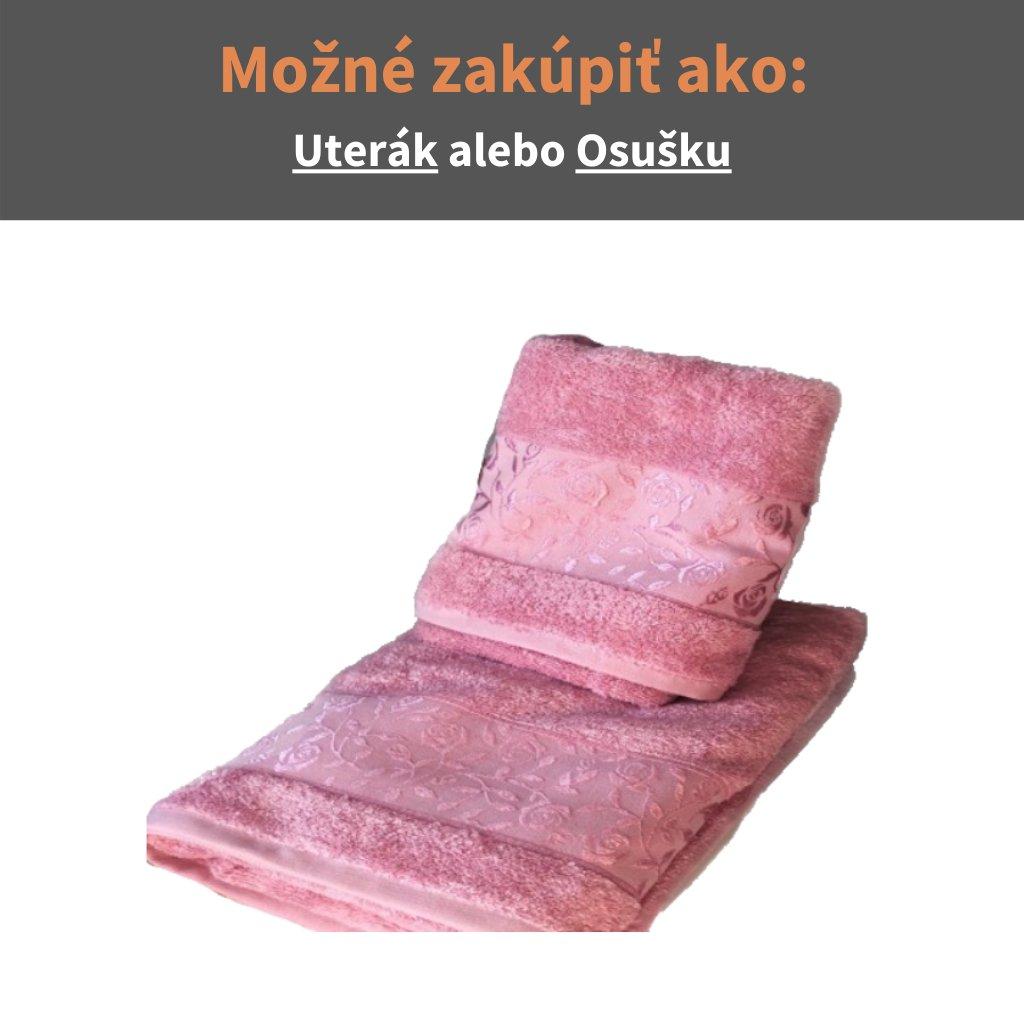 Bambusový uterák -osuška Ružová
