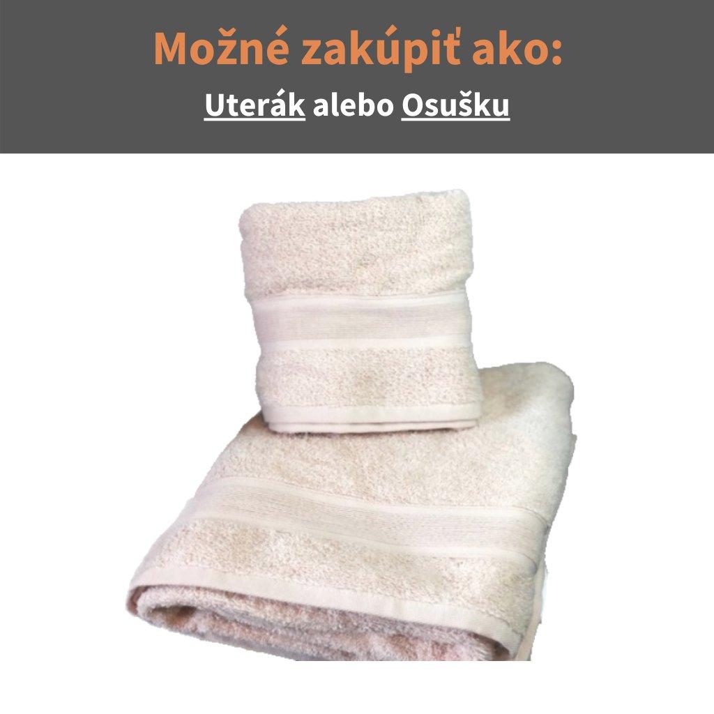 Froté uterák a osuška Kapučíno