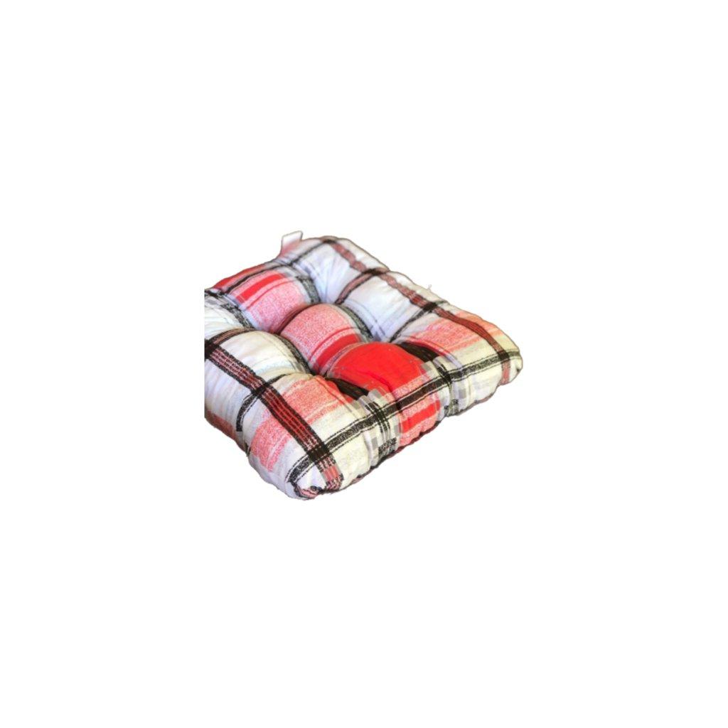 Podložka na stoličku - Červená Karo