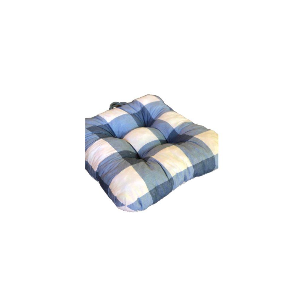 Podložka na stoličku - Modrá kocka