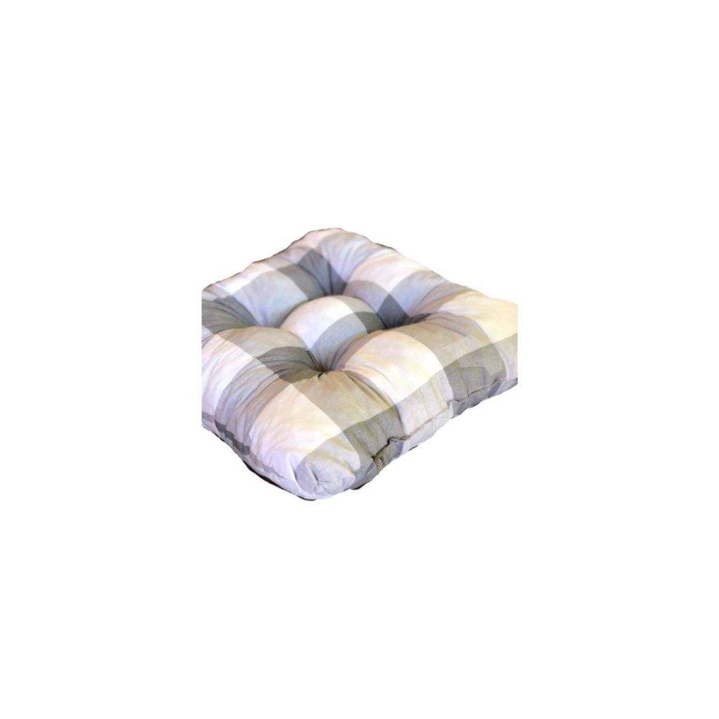Podložka na stoličku - Sivá kocka